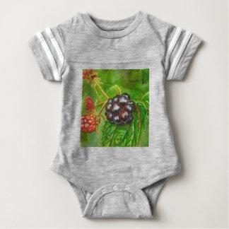 Body Para Bebê Amoras-pretas selvagens que amadurecem no verão