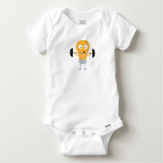 Body Para Bebê Ampola da malhação com peso