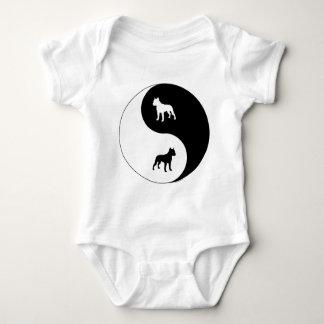 Body Para Bebê AmStaff Yin Yang