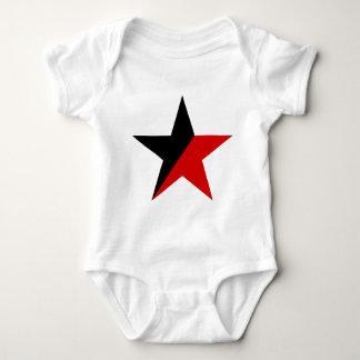 Body Para Bebê Anarquismo preto e vermelho do