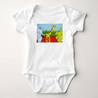 Body Para Bebê Animais de Zoon dos desenhos animados