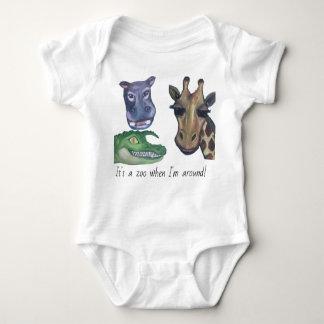 Body Para Bebê Animais do jardim zoológico