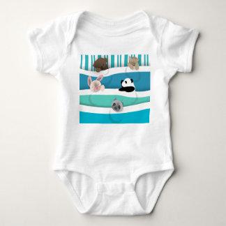 Body Para Bebê Animais sonolentos do bebê