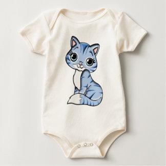 Body Para Bebê Animal de estimação felino do gato azul animal dos