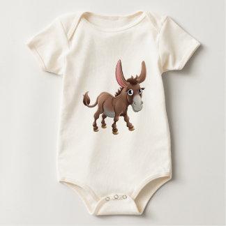 Body Para Bebê Animal de fazenda bonito do asno dos desenhos