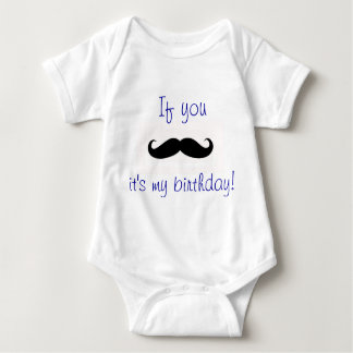 Body Para Bebê Aniversário do bigode