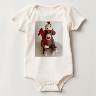 Body Para Bebê Aniversário do macaco da peúga primeiro