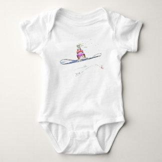 Body Para Bebê Aniversário feliz da snowboarding