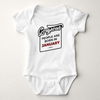 Body Para Bebê Aniversário lindo dos bebês do nascer em janeiro