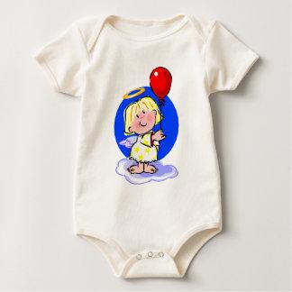 Body Para Bebê Anjo bonito e balão vermelho