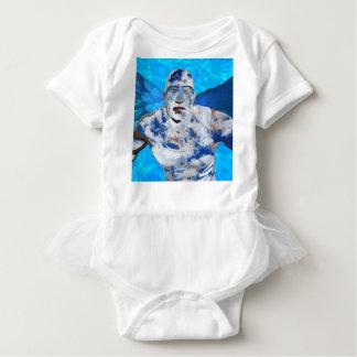 Body Para Bebê Anjo da natação