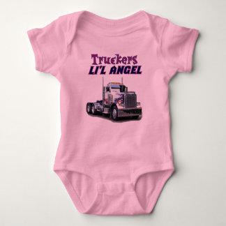 Body Para Bebê Anjo de Li'l dos camionistas