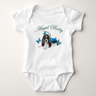 Body Para Bebê Anjo descuidado do bebê do botão do rei Charles