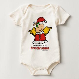 Body Para Bebê Anjo do Natal: Primeiro Natal