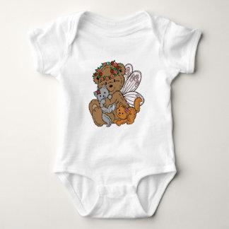 Body Para Bebê Anjo do urso com gatinhos
