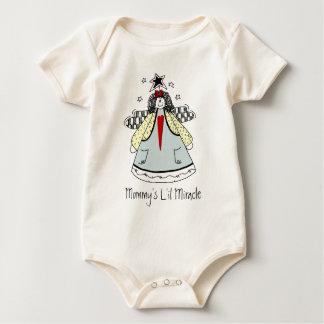 Body Para Bebê Anjo Prim do Preemie do milagre da mamã pouco