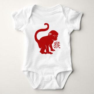 Body Para Bebê Ano bonito do macaco