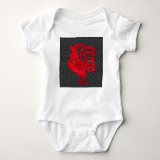 Body Para Bebê Ano da galinha do fogo vermelho