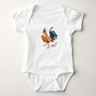 Body Para Bebê Ano de galo, caráter chinês, Bodysuit do bebê