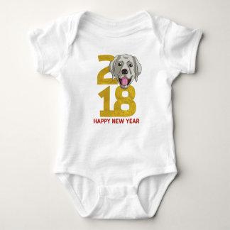 Body Para Bebê Ano de labrador retriever do ano novo do cão 2018