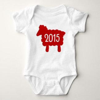 Body Para Bebê Ano do bebê 2015 dos carneiros