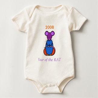 Body Para Bebê Ano do bebê do RATO