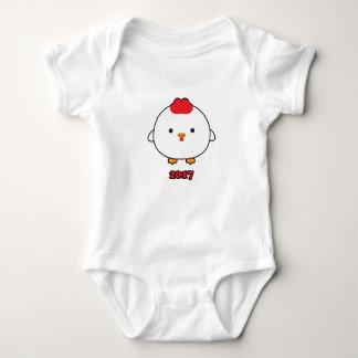 Body Para Bebê Ano do Bodysuit 2017 do bebê do galo