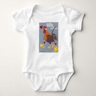 Body Para Bebê Ano do equipamento 2017 do bebê do galo