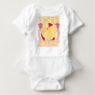 Body Para Bebê Ano do zodíaco do chinês do galo 2017 do fogo