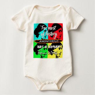 Body Para Bebê Anónimas eram umas citações de Virgínia Woolf do ~