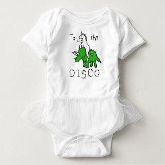 Body Para Bebê Ao disco (Triceratops da equitação do unicórnio)