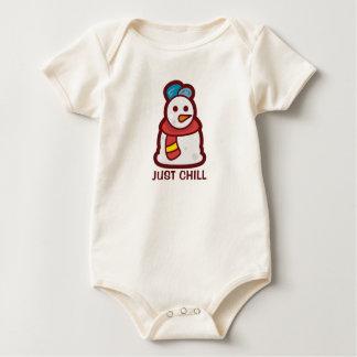 Body Para Bebê Apenas Bodysuit frio engraçado do boneco de neve |