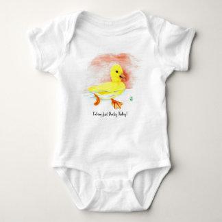 "Body Para Bebê ""Apenas Ducky """