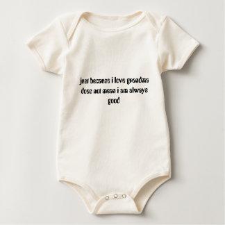 Body Para Bebê apenas porque eu amo a avó não significa que eu