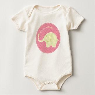 Body Para Bebê Apenas um rosa do amendoim