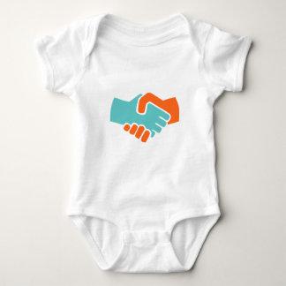 Body Para Bebê Aperto de mão junto