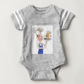 Body Para Bebê Apontar do cozinheiro chefe dos desenhos animados