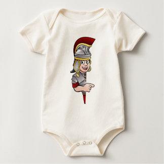 Body Para Bebê Apontar romano do soldado