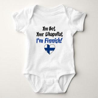 Body Para Bebê Aposte seu Lihapullat que eu sou finlandês