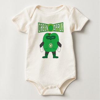 Body Para Bebê Apple verde
