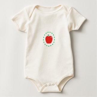 Body Para Bebê Apple vermelho