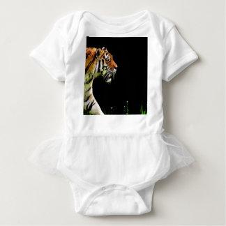 Body Para Bebê Aproximação do tigre - trabalhos de arte do animal