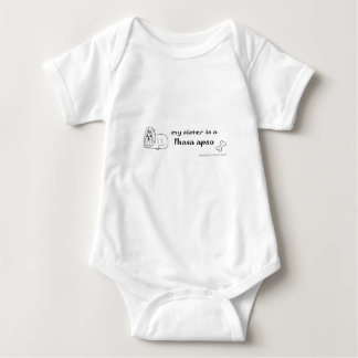 Body Para Bebê apso de lhasa