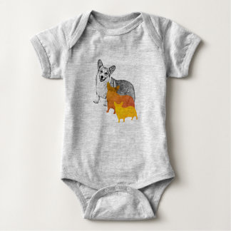 Body Para Bebê : aquacorg: Corgi do pop art