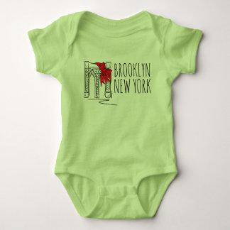 Body Para Bebê Arco do Natal da Nova Iorque NYC da ponte de