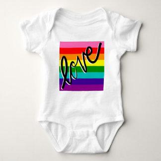 Body Para Bebê arco-íris do amor