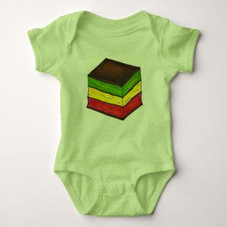 Body Para Bebê Arco-íris italiano sete biscoito do Natal de 7