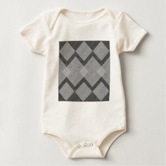 Body Para Bebê argyle cinzento