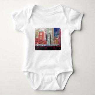 Body Para Bebê Arquitectura da cidade de Chicago com trem do EL