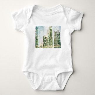 Body Para Bebê Arquitectura da cidade e floresta